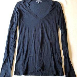 James Perse Standard Long Sleeve Vneck Size 1